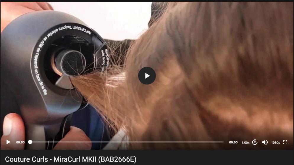 Tutoriel vidéo Waver Miracurl MKII Babyliss Pro